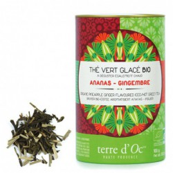 Terre d'Oc - Thé Vert glacé Ananas Gingembre - Grüner Bio Eistee Ananas Ingwer -bio