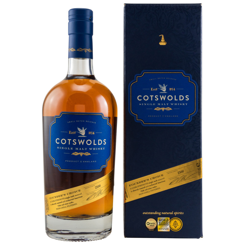 Cotswolds Founders Choice Whisky 60,3 %