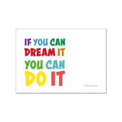 Postkarte - if you can dream it you can do it