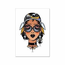 Postkarte - Vintage Nautic Girl