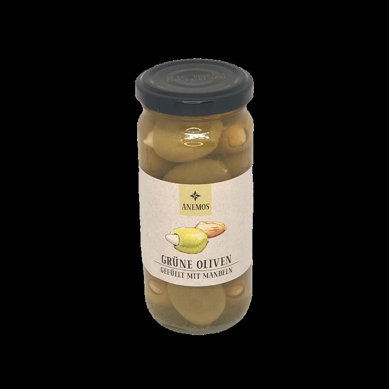 Anemos - Grüne Oliven gefüllt mit Mandeln