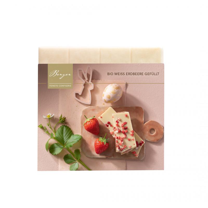 Berger - Bio Weiße Schokolade mit Erdbeer Ganache