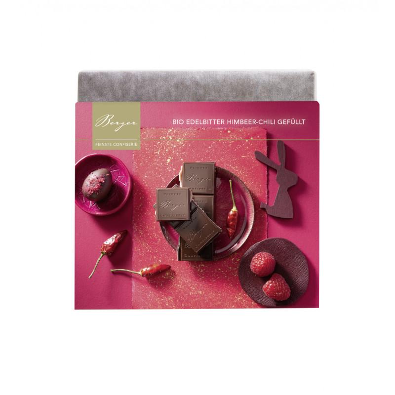 Berger - Bio Weiße Schokolade mit Himbeer Chili Ganache