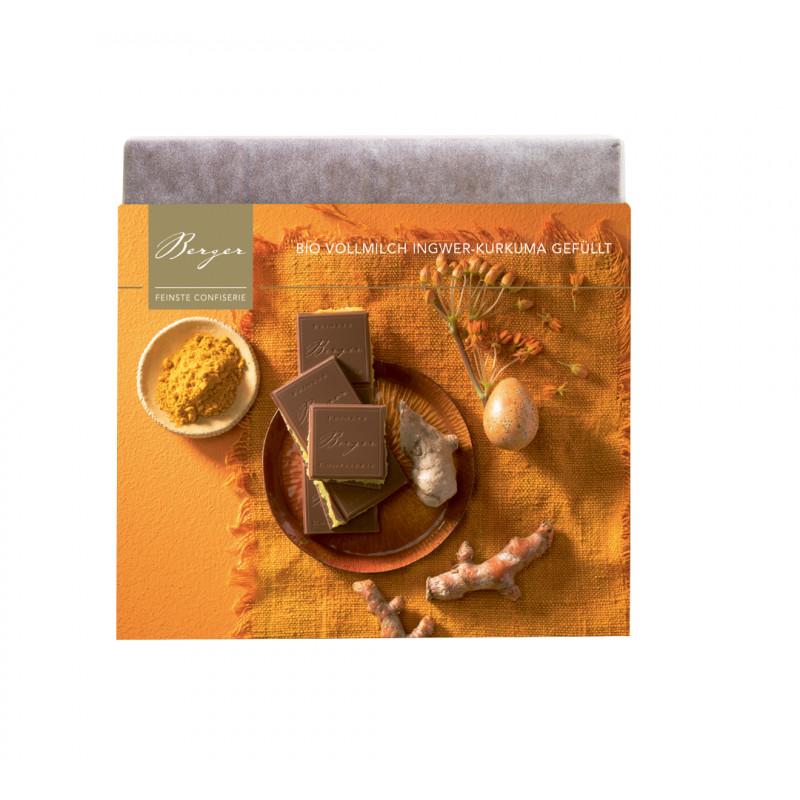 Berger - Bio Schokoladentafel Vollmilch Ingwer-Kurkuma gefüllt