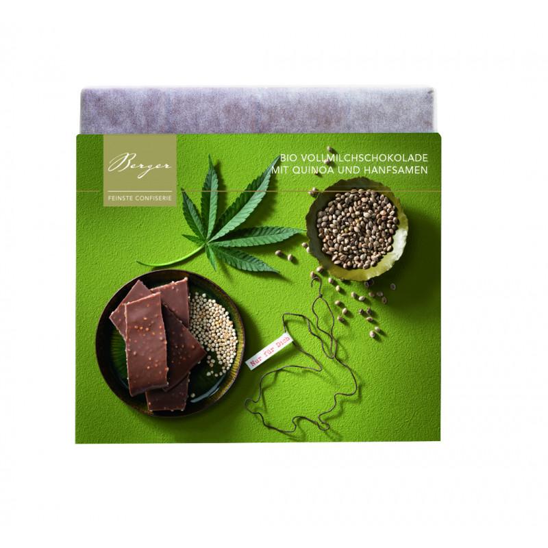Berger - Bio Schokoladentafel Vollmilch Hanf-Quinoa