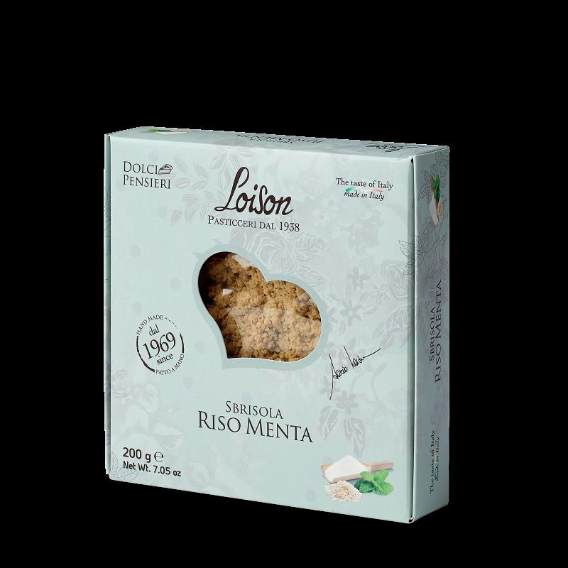 Sbrisola Riso Menta - Gebäck aus Reismehl und Minze
