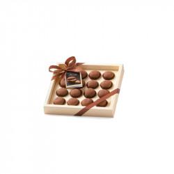 Baci di dama con cacao in confezione - Kekse mit Kakao mit dunkler Schokolade