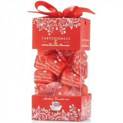 Tartufi dolci mirtilli & ciocoolato rosa Box - Box mit Tartufi Schokolade mit Preiselbeeren