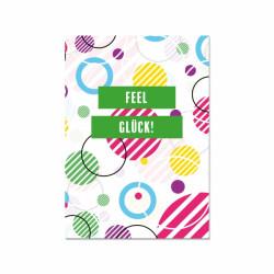 Postkarte - Feel Glück