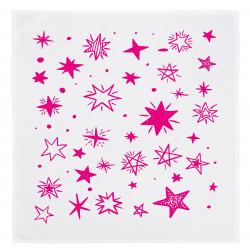 Servietten Set 2 Stück weiss - Sterne in Pink