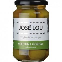 Aceituna Gordal Verde con Hueso große Oliven der Sorte Gordal in Salzlake