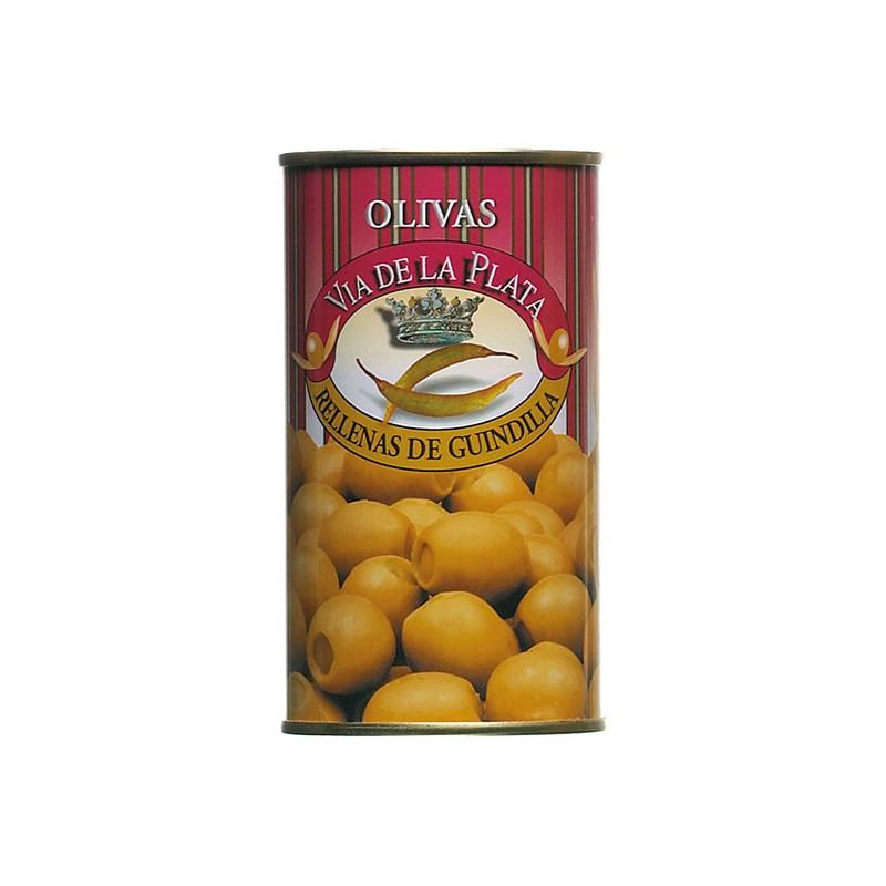 Aceitunas Rellenas de Guindilla - Grüne Oliven gefüllt mit Peperonipaste