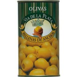 Aceitunas Rellenas de Anchoa Grüne Oliven gefüllt mit Sardellenpaste